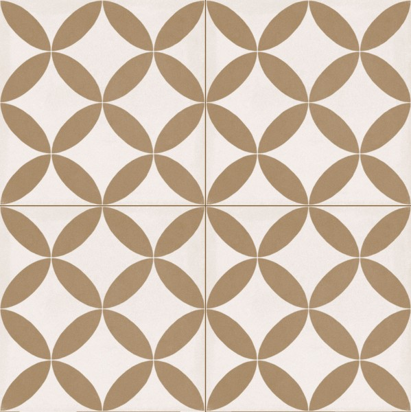 Fliese Patchwork Dekor Zementoptik weiß beige Contrasti Tappeto 4 Ragno by Marazzi