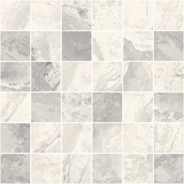 "Mosaik Marmor-Optik grau marmoriert matt 30x30cm ""Mystic Pearl"" Sant Agostino"