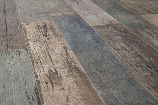 Terrassenplatte Feinsteinzeug 2cm Vintage Holzoptik Blendart Mix Sant Agostino