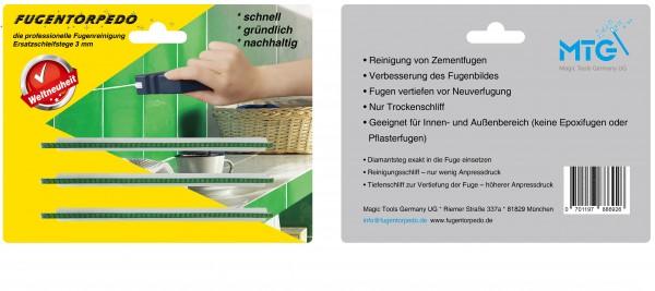 Ersatzschleifstege 3mm für Fugenreiniger - Fugentorpedo - jetzt versandkostenfrei im günstigen 3er-Pack kaufen