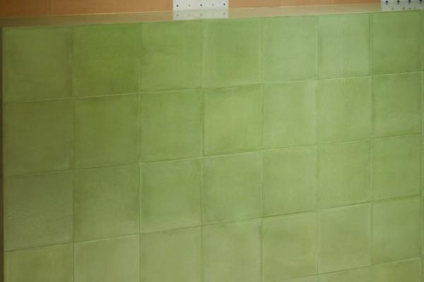 """Fliese grün glänzend glasiert Retro mediterran 20x20 """"Vita Verde"""" Sant Agostino"""