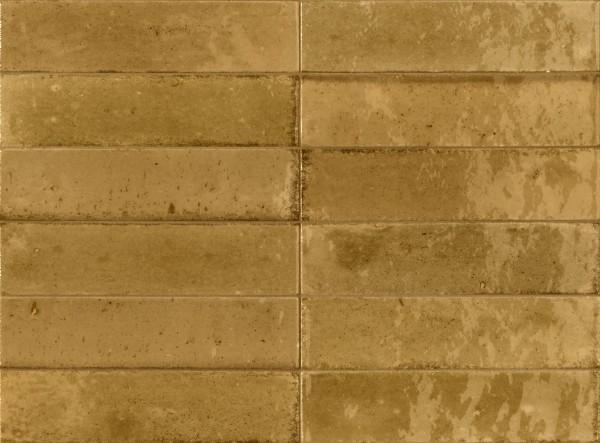 Fliese ocker senfgelb glasiert unregelmäßige Oberfläche Look Ragno by Marazzi