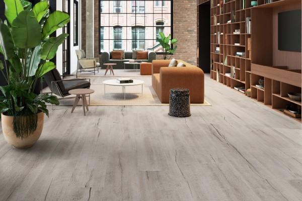 Fliese Schlossdielen Holzoptik Großformat grau Timewood Grey Sant Agostino