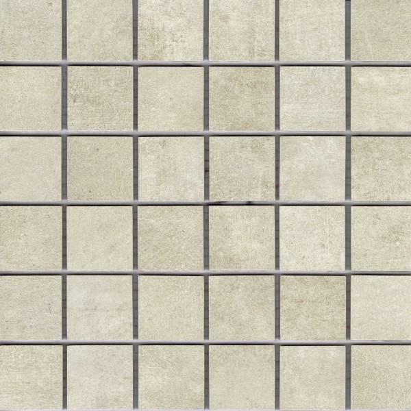 "Mosaik-Fliese Betonoptik beige 30x30 Feinsteinzeug ""Patch almond"" Ragno Marazzi"
