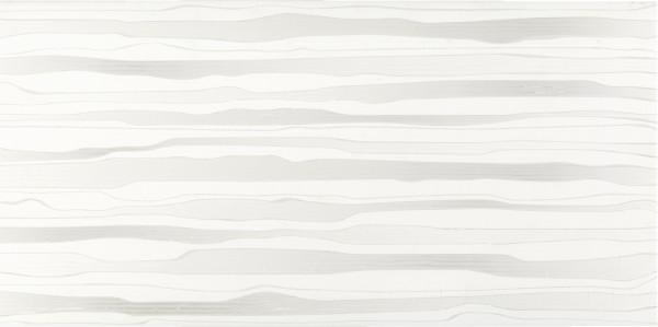 Wandfliese Dekorfliese Welle grau-beige matt 30x60 (29,8x59,8cm)