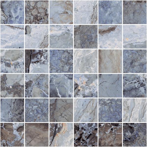 "Mosaik Marmor-Optik blau marmoriert matt 30x30cm ""Mystic Ocean"" Sant Agostino"