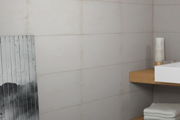 Wandfliese Vintage weiß-beige Sybar marfil matt 31x60