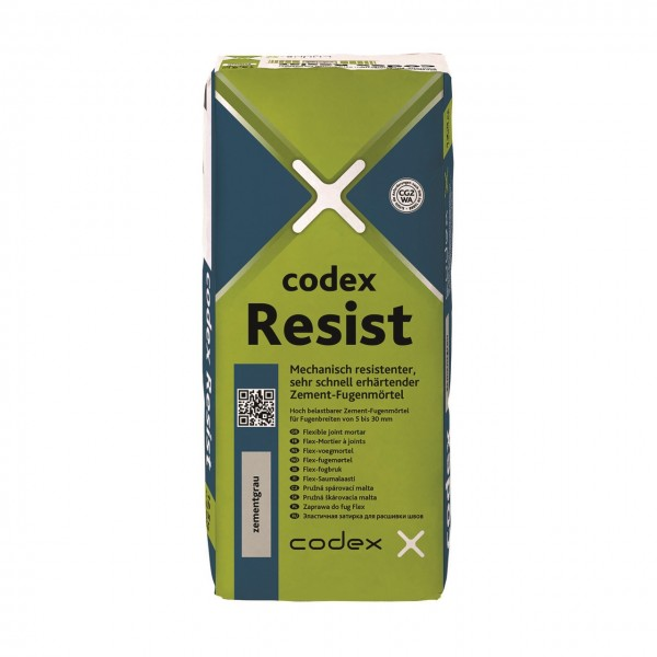 """Fugenmörtel für Großküchen, Kühlhäuser, Industrie, Terrassen, Werkstatt grau 12,5 kg """"Codex Resist"""""""