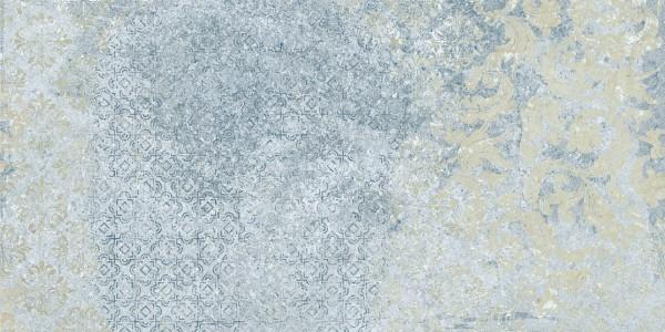 "Terrassenplatte Vintage Teppichoptik 50x100x2cm ""Bohemian Blue Aparici"""