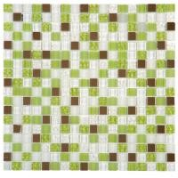 Mosaik Fliesen Glasmosaik Grun Weiss 30x30 Bei Fliesenprofi Kaufen