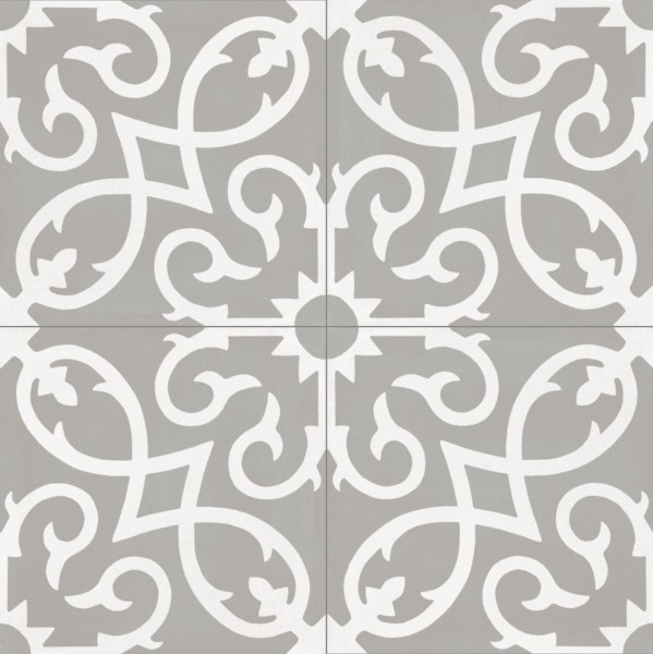 "Fliese Patchwork Dekor Zementoptik grau 20x20cm ""Contrasti Tappeto 1"" Ragno by Marazzi"