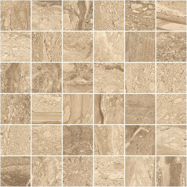Mosaik Fliese Natursteinoptik 30x30cm Delta Nocce