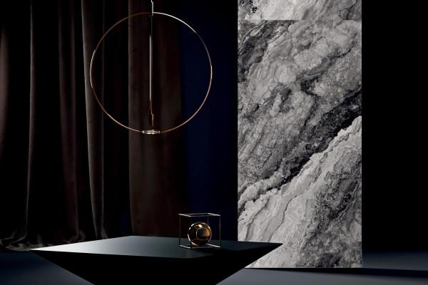 Fliese Marmor-Optik anthrazit schwarz marmoriert matt Mystic Dark Sant Agostino