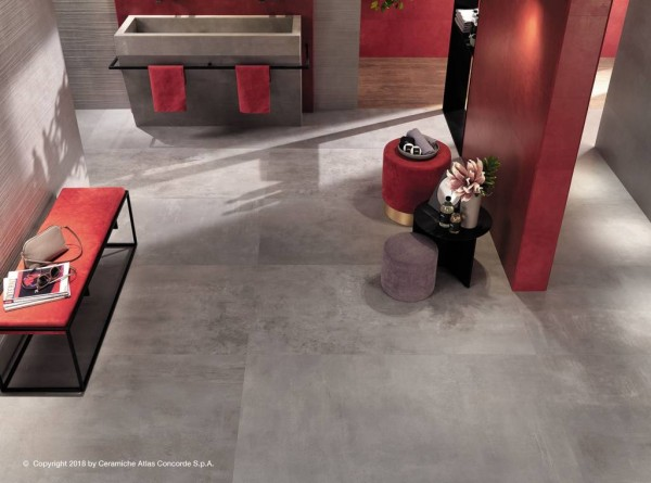 "Fliese Zement-/Beton-Optik grau 60x60 ""Boost Grey AMH5"" Atlas Concorde"