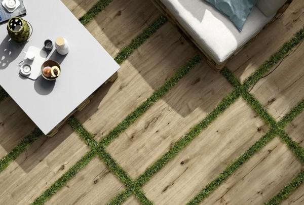 Terrassenplatten Terrassenfliese Holzoptik Eiche Großformat 40x120x2cm bei Fliesen Profi kaufen