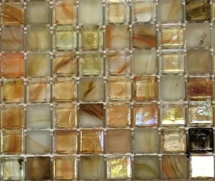 Detailansicht vorne Glasmosaik gelb Dauernassbereich 30x30 bei Fliesenprofi kaufen