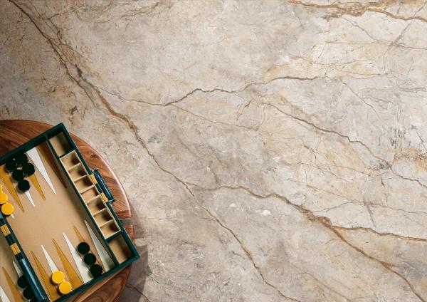 """Fliese Marmor-Optik beige grau 60x120 Großformat """"San Pe"""" Imola"""
