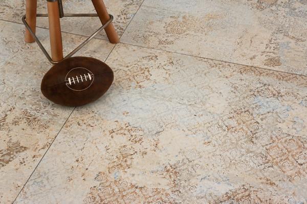 Terrassenplatte Feinsteinzeug Vintage Teppichoptik Carpet Sand Aparici verschiedene zufällige Dekor