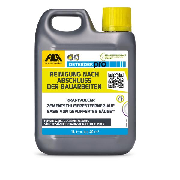 Zementschleier Reiniger Fliesen, Klinker, Feinsteinzeug FILA Deterdek saures Reinigungskonzentrat