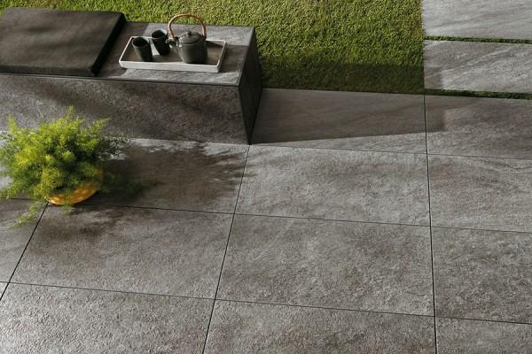 Terrassenplatten Naturstein Optik grau 45x90x2cm Brave bei