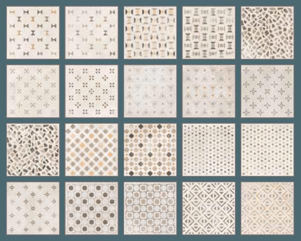 """Fliese Patchwork Dekor weiß-beige 20x20 """"Ritual Patchwork light"""" Sant Agostino"""