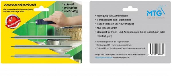Ersatzschleifstege 2mm für Fugenreiniger - Fugentorpedo - jetzt versandkostenfrei im günstigen 3er-Pack kaufen