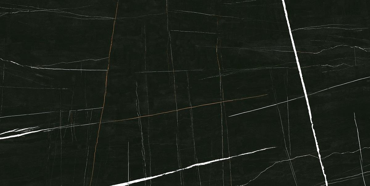 Fliese Marmoroptik schwarz marmoriert glänzend