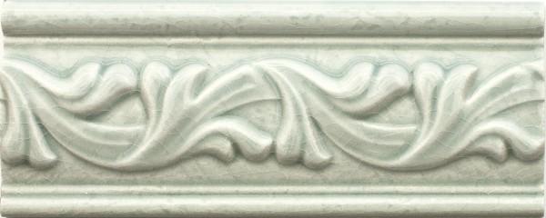 Bordüre krakeliert Craquelé/ Krakelee-Dekor grün glänzend 8x20 passend zu Craquelé Metro-Fliesen