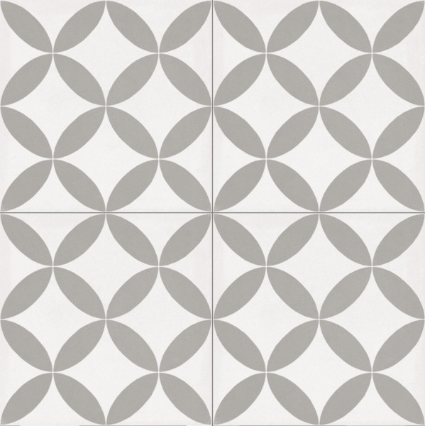 Fliese Patchwork Dekor Zementoptik weiß grau Contrasti Tappeto 3 Ragno by Marazzi