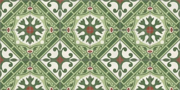 Terrassenplatte Feinsteinzeug Terrassenfliese Patchwork Retro Dekor grün Altea Corbeta Aparici