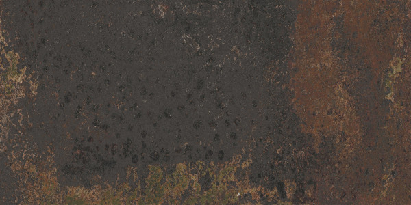 Terrassenplatte Feinsteinzeug Vintage Metalloptik braun Corten Graphite Aparici