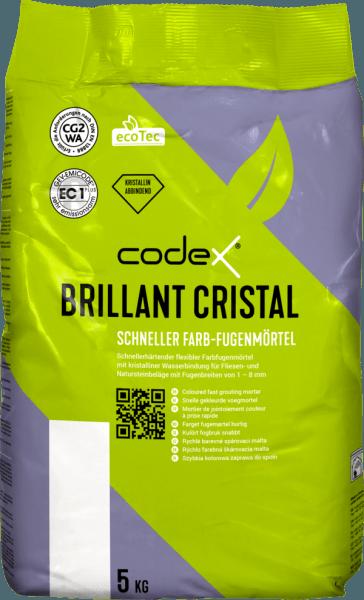 """Fugenmörtel Naturstein Fliesen 5kg schnellerhärtend & flexibel """"Codex Brillant Cristal"""""""