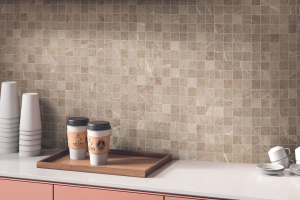 Mosaik Speckstein-Optik beige matt Soap Stone Ivory Cercom