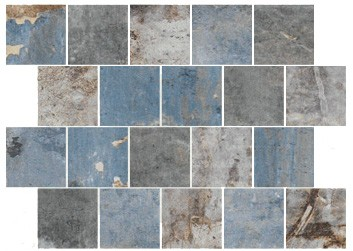 "Mosaik Fliese blau Vintage Retro ""CIR Havana Sky Spacco 30x40"""