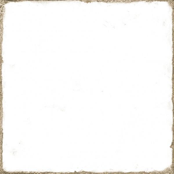 Wandfliese historisch Vintage Shabby weiß glänzend 15x15