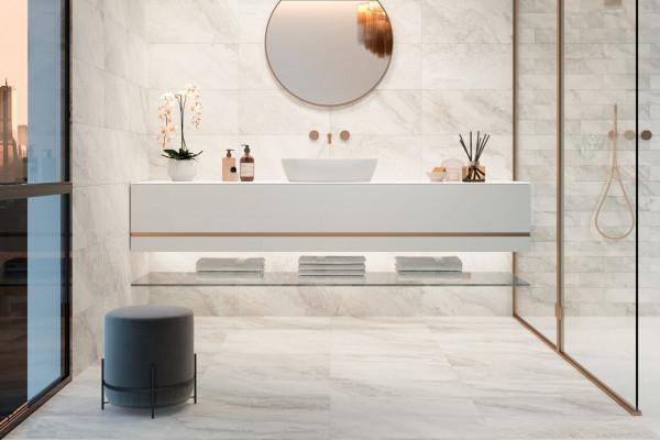 Fliese Marmor-Optik elfenbein creme marmoriert matt Mystic Ivory Sant Agostino