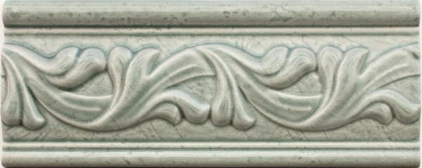 Bordüre krakeliert Craquelé/ Krakelee-Dekor grau-grün glänzend 8x20 passend zu Craquelé Metro-Fliese
