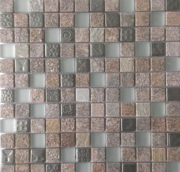 Mosaik Fliesen Wadi Glasmosaik grau 30x30 bei Fliesenprofi kaufen