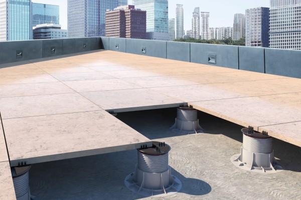 """Stelzlager Terrassenplatten höhenverstellbar mit 2mm, 3mm & 4mm Fuge """"Queen"""""""