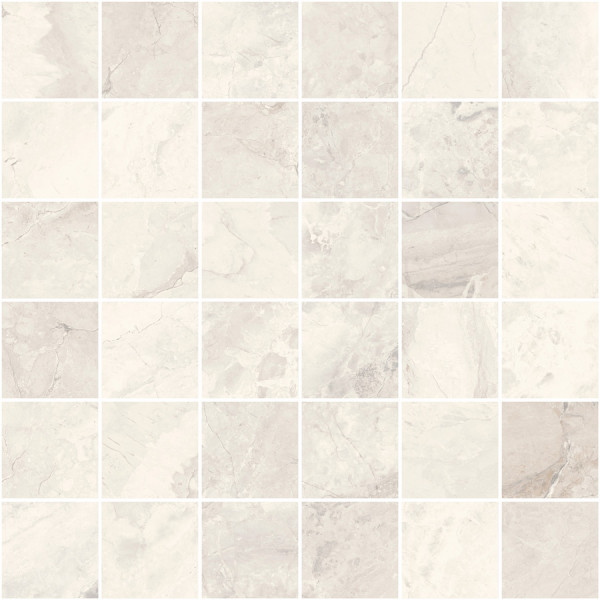 "Mosaik Marmor-Optik elfenbein-creme marmoriert matt 30x30cm ""Mystic Ivory"" Sant Agostino"