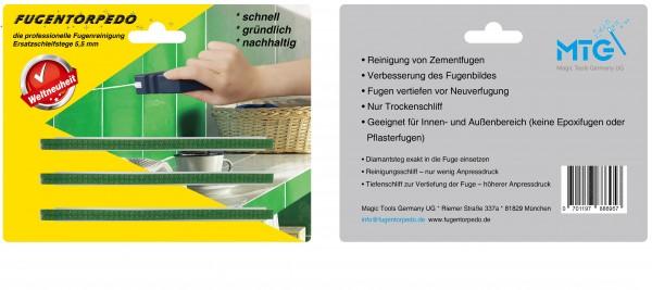 Ersatzschleifstege 5mm für Fugenreiniger - Fugentorpedo - jetzt versandkostenfrei im günstigen 3er-Pack kaufen