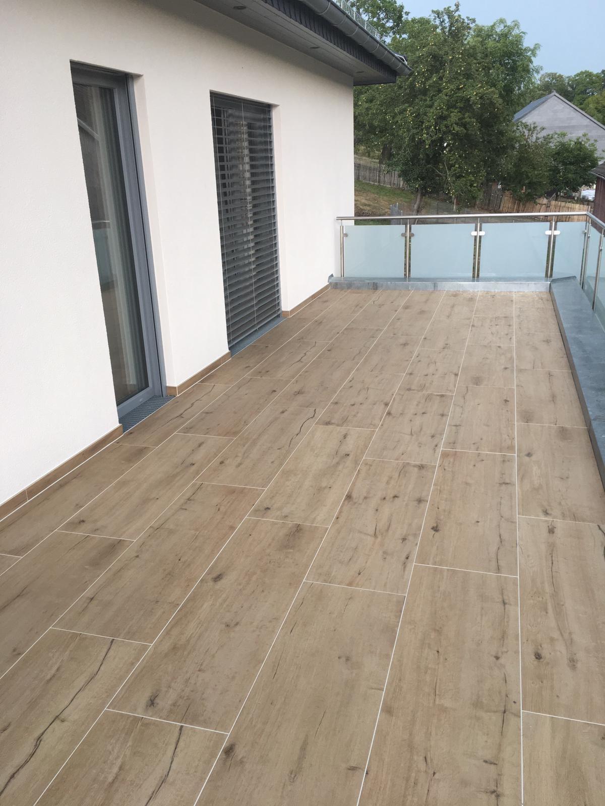 Terrassenplatten Terrassenfliese Holzoptik Eiche