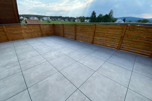 Terrassenplatte Feinsteinzeug Betonoptik grau Patch Home Ragno by Marazzi