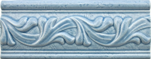 Bordüre krakeliert Craquelé/ Krakelee-Dekor blau glänzend 8x20 passend zu Craquelé Metro-Fliesen
