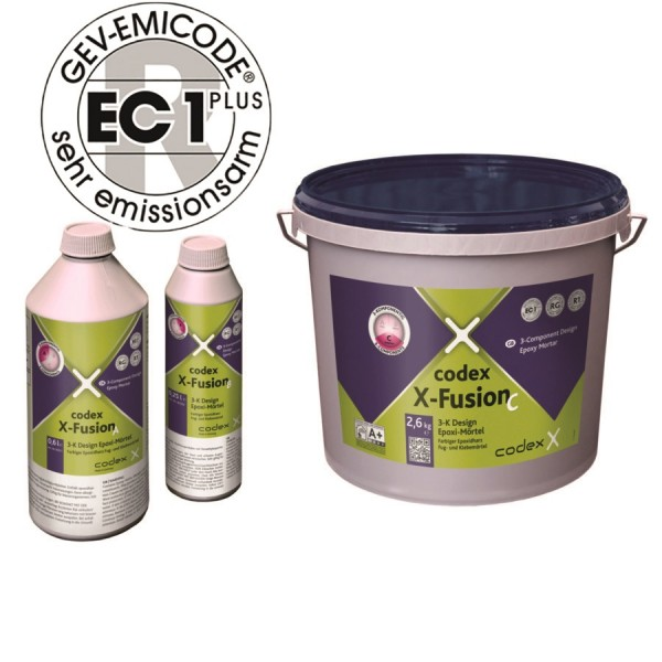 "Epoxidharz-Fugenmörtel kaschmirgrau 3-Komponenten 3,5kg ""Codex X-Fusion""Epoxidharz-Fugenmörtel kaschmirgrau 3-Komponenten 3,5kg ""Codex X-Fusion"""