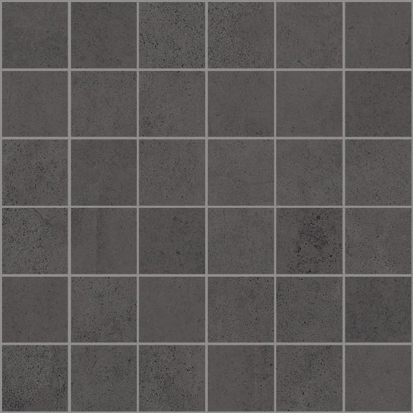 """Mosaik Fliese Betonoptik schwarz anthrazit 30x30 """"Ritual Night Mosaik"""" Sant Agostino"""