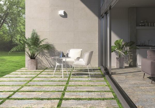 """Terrassenplatte Vintage Teppichoptik 50x100x2cm """"Carpet Vestige Aparici"""" 8 verschiedene zufällige Dekor"""