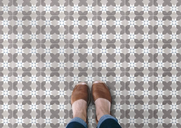 Zementfliesen Optik Dekor Jugendstil Küche Bad matt Feinsteinzeug bei Fliesenprofi kaufen
