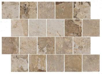 "Mosaik Fliese grün-beige Vintage Retro ""CIR Havana Mojito Spacco 30x40"""