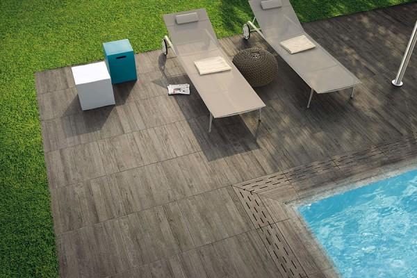 """Terrassenplatten Holzoptik grau 45x90x2cm """"Axi grey timber"""""""